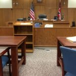 courtroom showing the setting for small claims court procedures